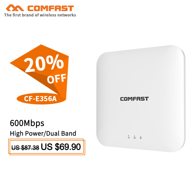 Comfast 600Mbps Wireless wifi Router 5.8Ghz Dual Band Ceiling AP Wi fi Signal Amplifier booster Open wrt WI FI Extender Router цена