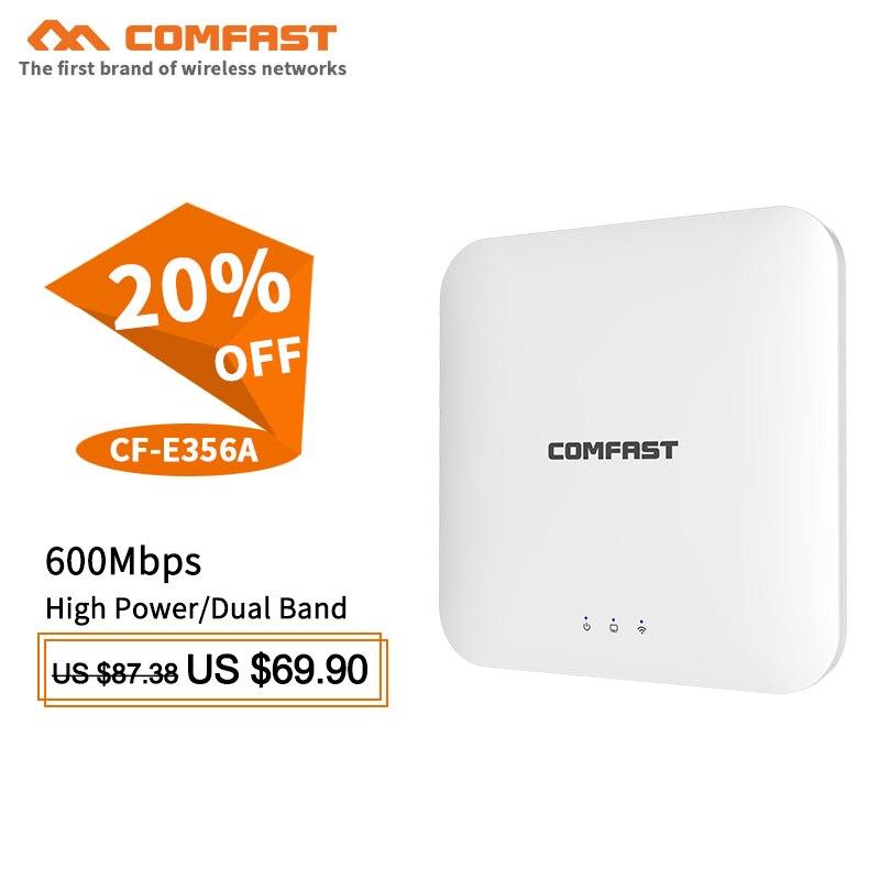 Routeur wifi sans fil Comfast 600 Mbps 5.8 Ghz double bande plafond AP Wi fi amplificateur de Signal booster ouvert wrt wifi Extender routeur