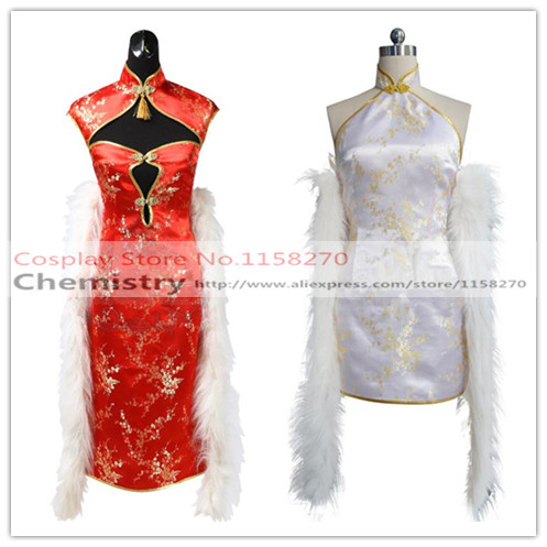 Date A Live Kurumi Tokisaki red/white dress Cosplay Costume