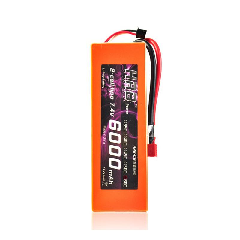 HRB 2S 7.4V 6000mAh 60C Hardcase Lipo