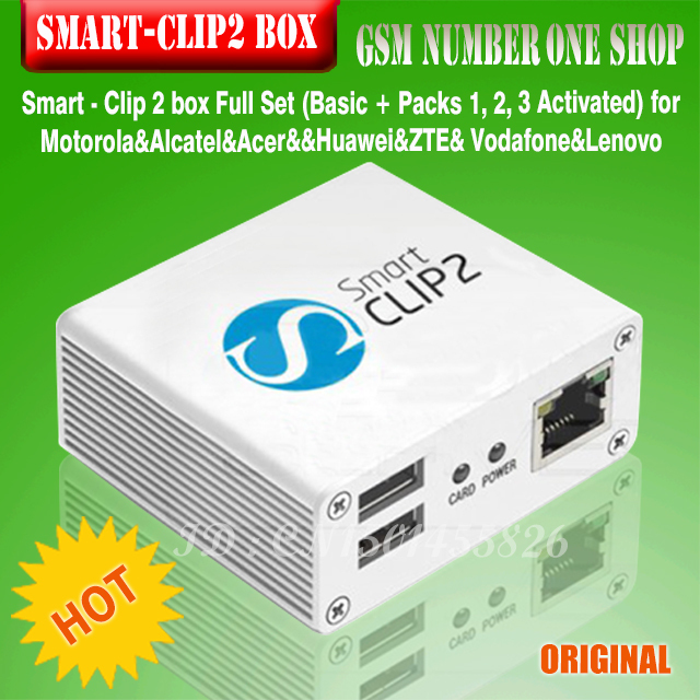 Smart Clip 2 BOX  With Packs 2, 3, 4, 5 ActivatedSupports 4900 Cell Phone Models For Alcatel, Motorola, Huawei, ZTE, Vodafone