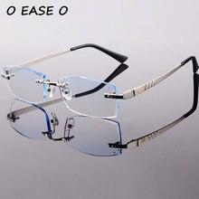 2017 New Arrival Titanium Rimless Eyeglasses Men Korean Optical Frame Including 1 61 Asphereic Tinted HMC