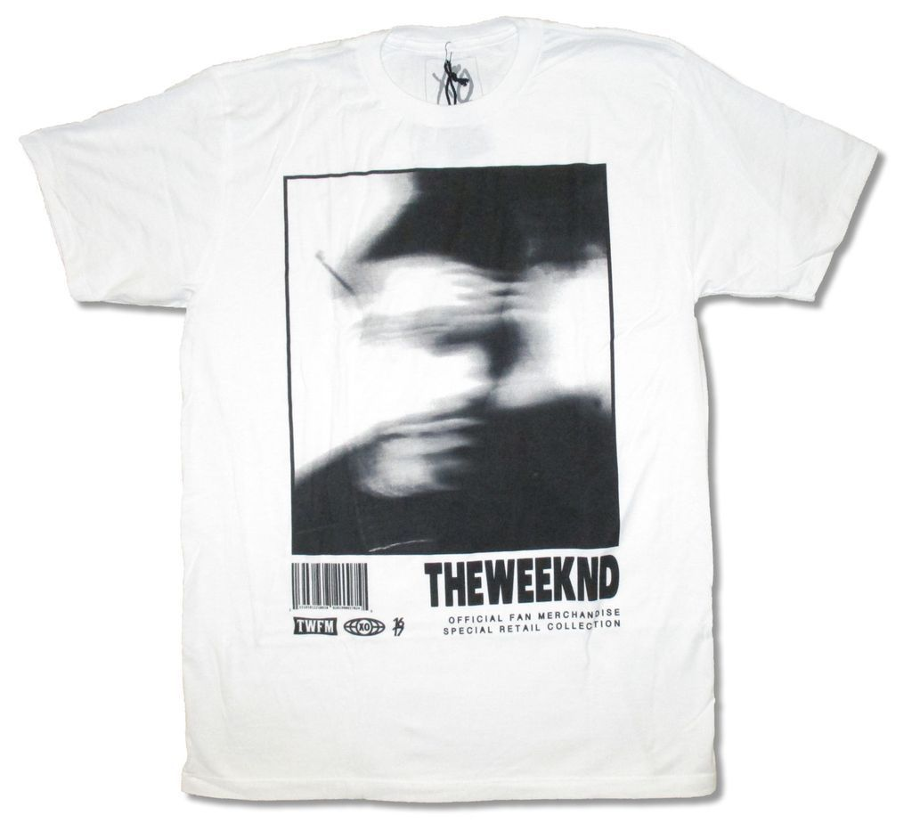 The Weeknd Blurry Image Xo Twfm White T Shirt New Official Design Style New Fashion Short Sleeve T Shirt Casual Men Clothing
