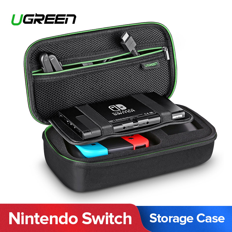 Ugreen Storage Bag for Nintend Switch Nintendos Switch Console Case Durable Nitendo Case for NS Nintendo Switch Accessories 11 in 1 accessories nintend switch ns carrying storage bag joystick handle grips charger silicone case caps for nintendo switch