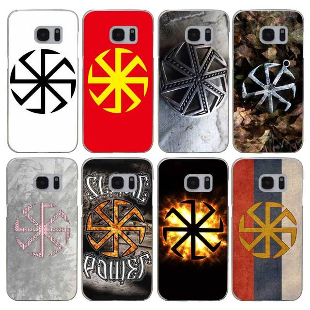 US $1 09 35% OFF|H243 Slavic Symbol Kolovrat Transparent Hard PC Case Cover  For Samsung Galaxy S Note 3 4 5 6 7 8 9 Edge Plus-in Fitted Cases from