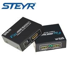 Divisor ultra hd 4k steyr hdmi divisor 1x2 divisor do sinal do porto 2 divisor do distribuidor hdmi 1.4 1 em 2 para fora apoio 2k * 4k