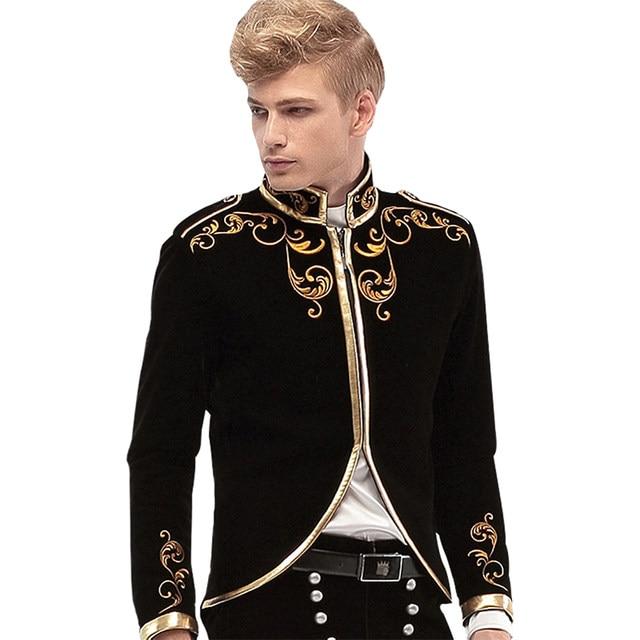 Online Shop FANZHUAN Brands Gothic Clothing Men suit Made Mens ...