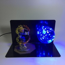 Dragon Ball Z Super Saiyan Vegeta LED Light Toy Lamp Figure Jouet Display Model Toys Children Gift