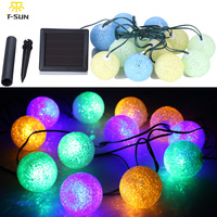 New Design 12 LEDs Solar String Light Colorful Lamps With Solar Batteries Light Sensor Indoor Outdoor