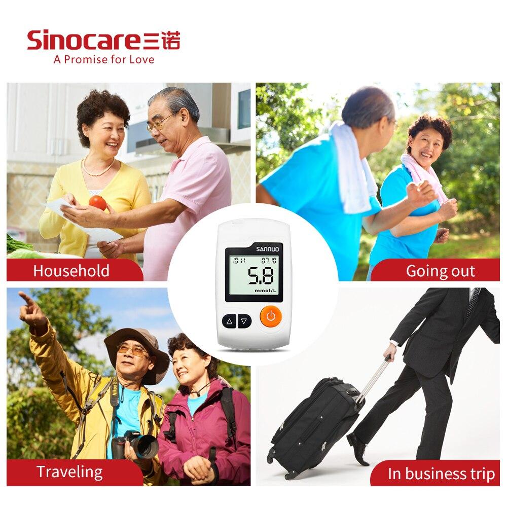Купить с кэшбэком Sinocare GA-3 50pcs/100pcs Blood Glucose Test Strips Bottled and Lancets for Diabetes