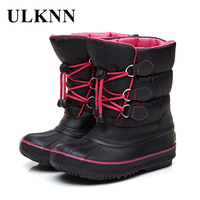 ULKNN Winter Children Boots Thick Warm Shoes For Baby Girls Boys Snow Boots Kids Shoes Plush