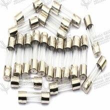 лучшая цена fuze 0.2 0.5 1 1.5 2 3A 4 5A 6 8 12 20 10A fusible 15 30A fusivel  diameter 5mm length 20mm 250v glass fuse wire 100pcs/lot