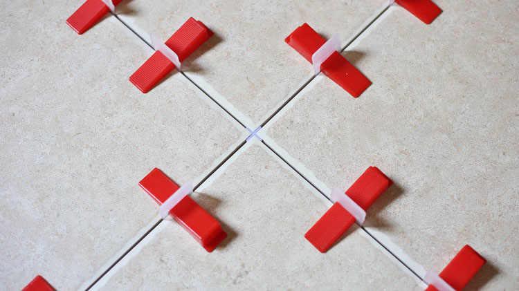 "Tile Spacer 3 Mm 1/8 ""5000 Pcs Lantai Dinding Porselen Cross Spacer Nat Spacer Instalasi Meletakkan Alat Bagian Tusrai"