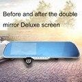 5 polegada de Visão Noturna HD 1080 P Duplo Lente Da Câmera de Vídeo controle de Voz inteligente espelho Retrovisor Do Carro DVR GPS Android Bluetooth Monitor de