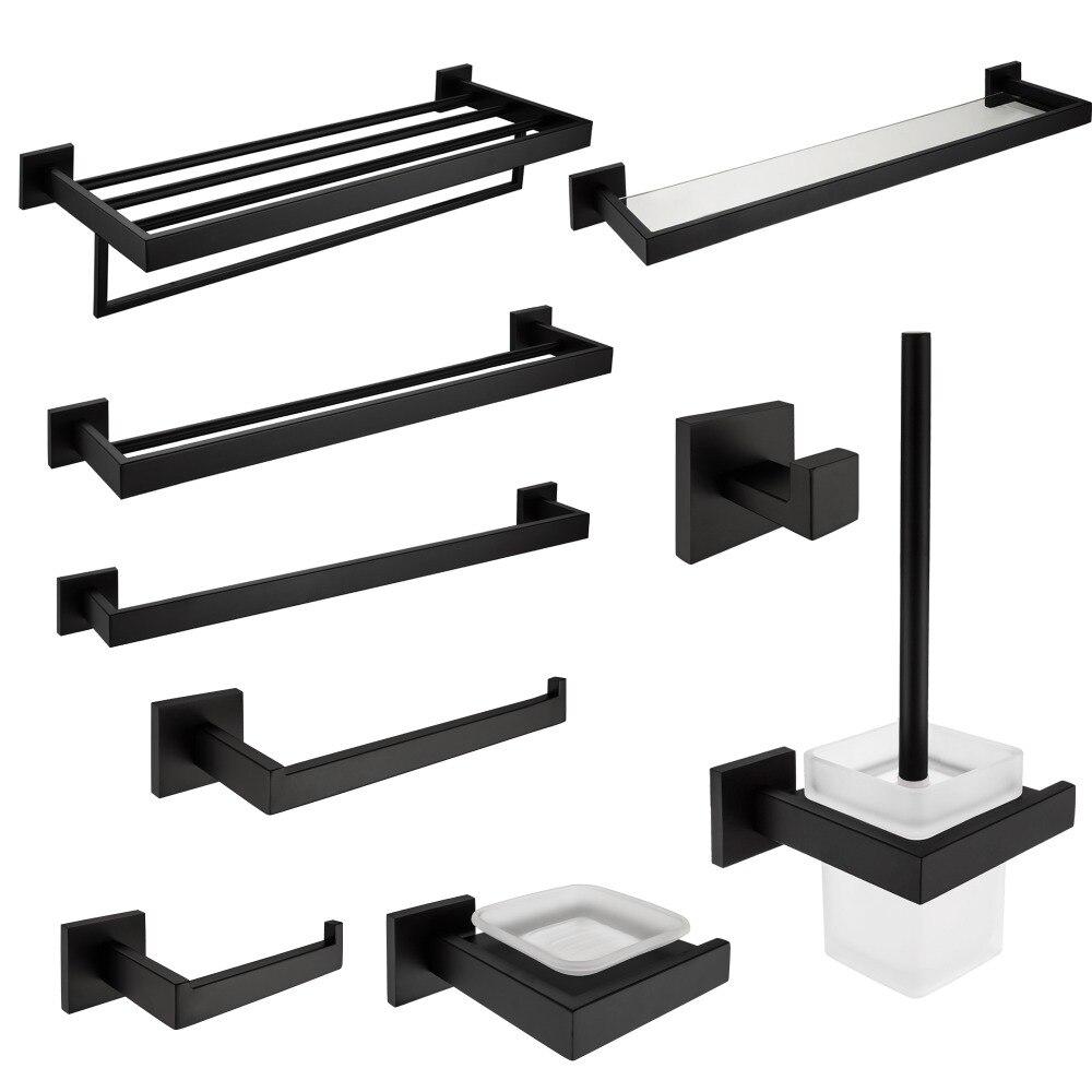 Bathroom Accessories Black popular black bathroom accessories-buy cheap black bathroom