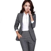 Осенняя женская обувь комплекты леди костюм офисные формальные профессиональные Бизнес Для женщин костюмы женские элегантный блейзер наб