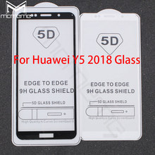 5D Full Cover Tempered Glass For Huawei Y5 Prime 2018 Full Glue Screen Protector Film For Huawei Honor 7A 5.7 Honor 7A 5.45'' RU защитное стекло caseguru для huawei honor 7a y5 prime 2018 glue full screen black