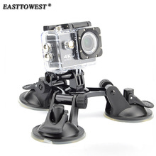 Easttowest Go pro Accessories Fat Gecko Triple Suction Cup Mount for Go Pro 6 5 4