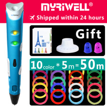 myriwell 3d pen 3d pens, 1.75mm ABS/PLA Filament, 3d model,  Christmas present 3d printer pen-3d magic pen Kids birthday present цена 2017