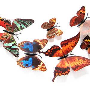 Image 4 - Nueva inclusión 3D DIY, pegatinas de pared, imán de nevera, decoración del hogar, pegatinas de mariposa de dibujos animados, decoración de habitación, adhesivo mural creativo