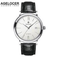 Jaragar marki AAA Mechaniczne Zegarki Z Datą Agelocer Fotochromowe Szafiry Zegar Relogio Masculino 40mm dial zegarki na rękę