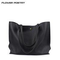 FLOWER POETRY Women Handbags Large Capacity Tote Tassel Shoulder Bag Simple Style Female Bolsas Feminia Bags