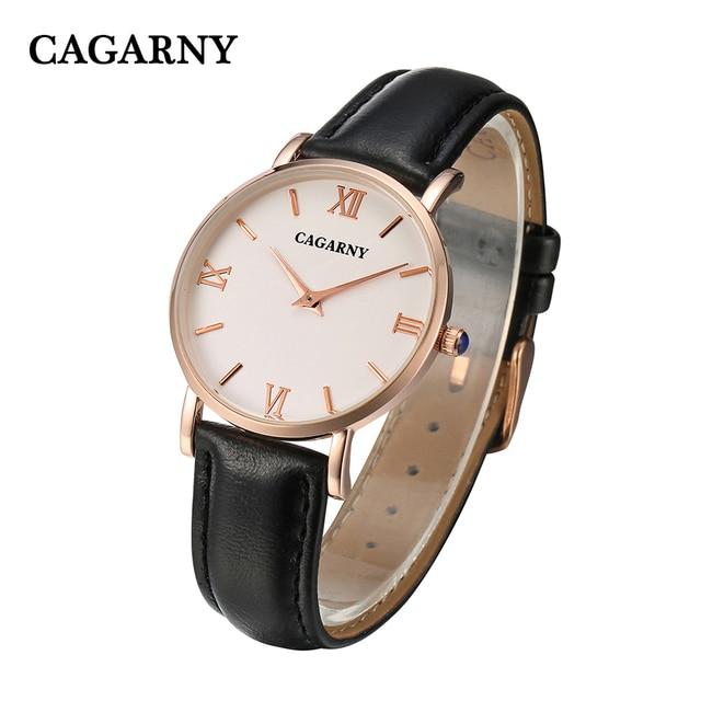 Cagarny Women Watches Luxury Brand Fashion Quartz Ladies Vogue Leather Bracelet