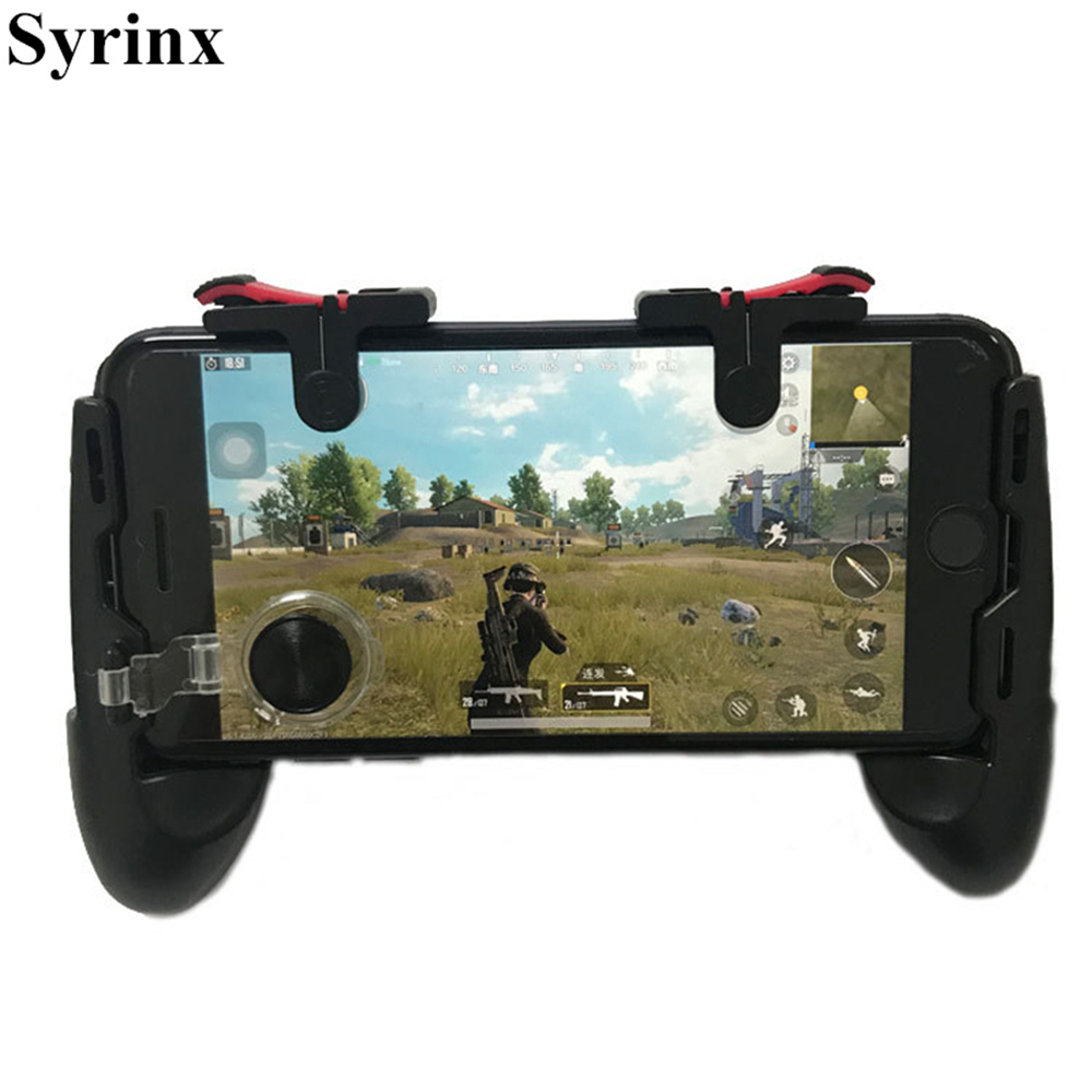 For Phone L1R1 Grip With Joystick / Trigger L1r1 Fire Buttons For IPhone 8 Android IOS Mobile Gamepad For Pubg Controller Holder