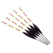 5 Pcs/Set Barr Wood Fluorescent Tail  Fishing Float Buoy Stick Floating Wooden Tackle Ice Carp Luminous Accessories