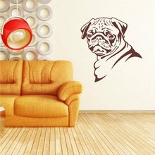 Wall Decals PUG DOG themed Bedroom Living room Wallpaper
