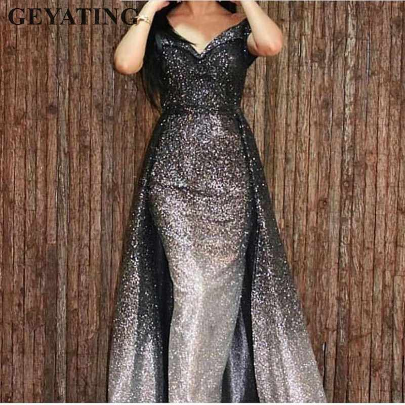 6c28d0807b Detail Feedback Questions about Glitter Sequins Long Mermaid Black ...