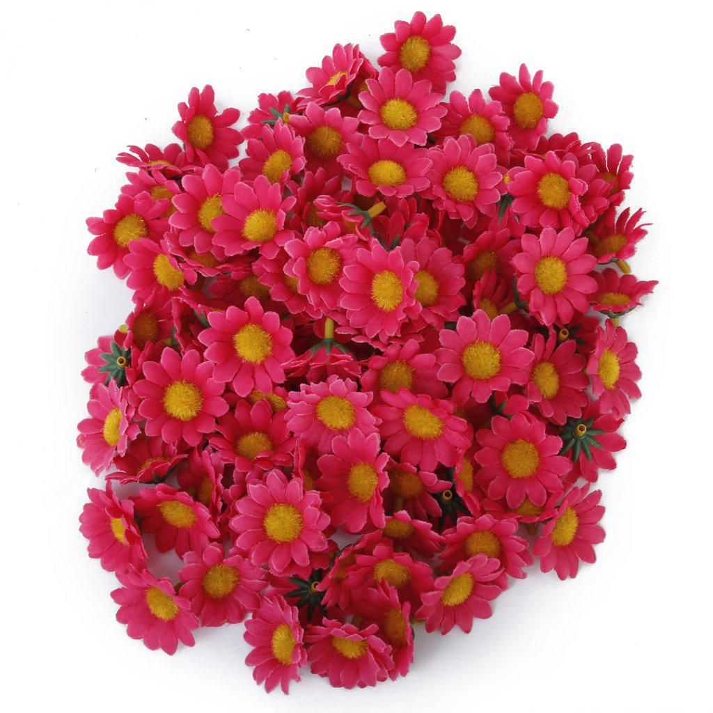 Red daisy flower promotion shop for promotional red daisy flower 100 new 100pcs artificial daisy flowers heads for wedding party rose red dhlflorist Gallery