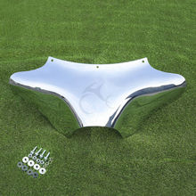 Chrome Front Outer Batwing Fairing For Yamaha V Star 650 1100 Classic Harley Dyna Softail Fat Boy Road King FLHR FLHT