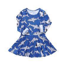 girl dress Toddler Baby Girl Kid Spring Clothes Long Sleeved Cartoon Animal Fruits Print Princess Party Dress dropshipping(China)