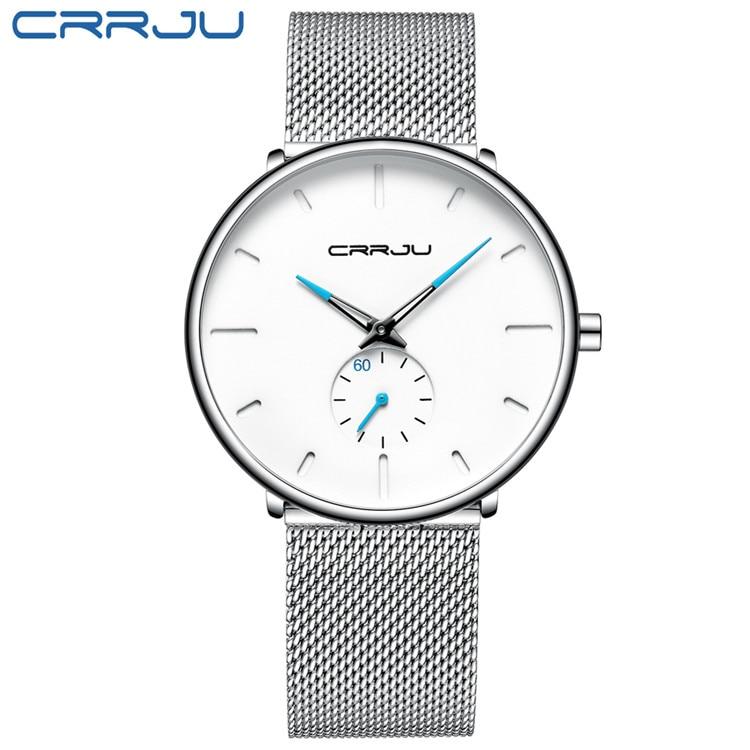 Image 2 - CRRJU mody przypadkowi męskie zegarki wodoodporna armia wojskowy Sport analogowy zegarek kwarcowy zegarek na rękę dla mężczyzn zegar na prezent Relogio MasculinoZegarki kwarcowe   -