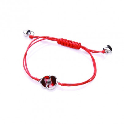 Red Poppy Collection Enamel Friendship Bracelet Remembrance Day Gift ...