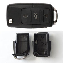 Concert Black Car Key Shell Practical 1 Set Gift Secret Safe Compartment 37*22mm Durable 3-Button Car Key New Hot Car Key Shell(China)