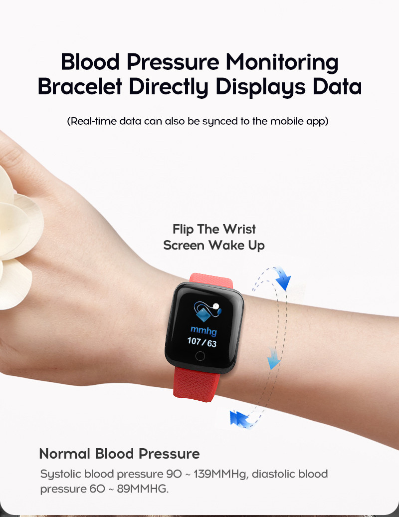 LYKRY A6S Smart Bracelet Fitness Tracker Heart Rate Blood Pressure Monitor Smart Band IP67 Waterproof Sports For Android IOS+Box (12)