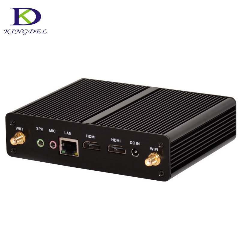 Fanless Barebone Small Computer  MinI PC Intel CeleronN2810/ Pentium N3520 Qual Core LAN HDMI Home Computer Win7  NC490
