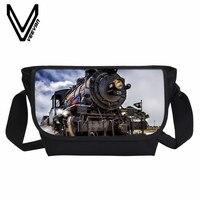 Veevanv Новый Для мужчин сумка мода поезд модель изображения 3D печать Сумочка Обувь для девочек Сумки на плечо для школьников Bookbag сумка