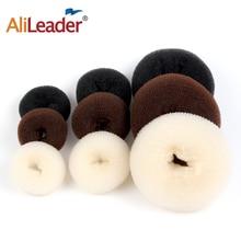 Alileader Hot Fashion Magic Hair Bun Maker Accesories Chignon Magique Hair Donut Bun For Women Hair Styling Tools White/Brown