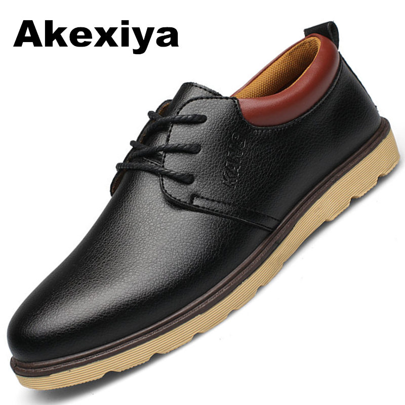 купить 2017 New Arrival Wholesale Hot Sale Spring Fashion Mens Shoes Mens Leather Shoes Leather Casual Breathable Shoes Flats онлайн