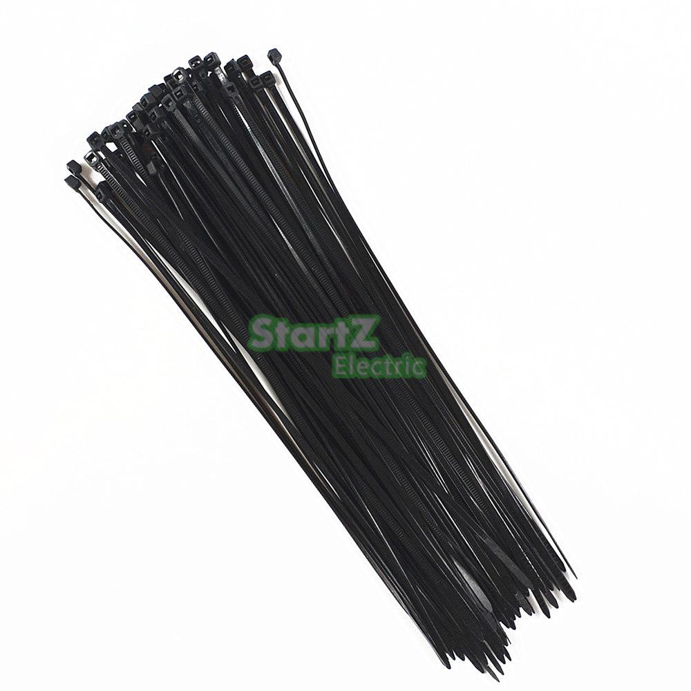 500Pcs/bag 4X (150,200,250,300)mm Self-Locking BlACK  Nylon66 Wire Cable Zip Ties.cable ties SGS Certificated self locking cable ties 4 120 fixed tie wire 500