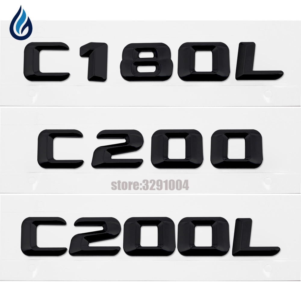For Mercedes Benz C-Class W201 W202 W203 W204 C180L C200 C200L Trunk Rear Emblem Badge Chrome Letters Sticker Car Accessories mercedes а 160 с пробегом