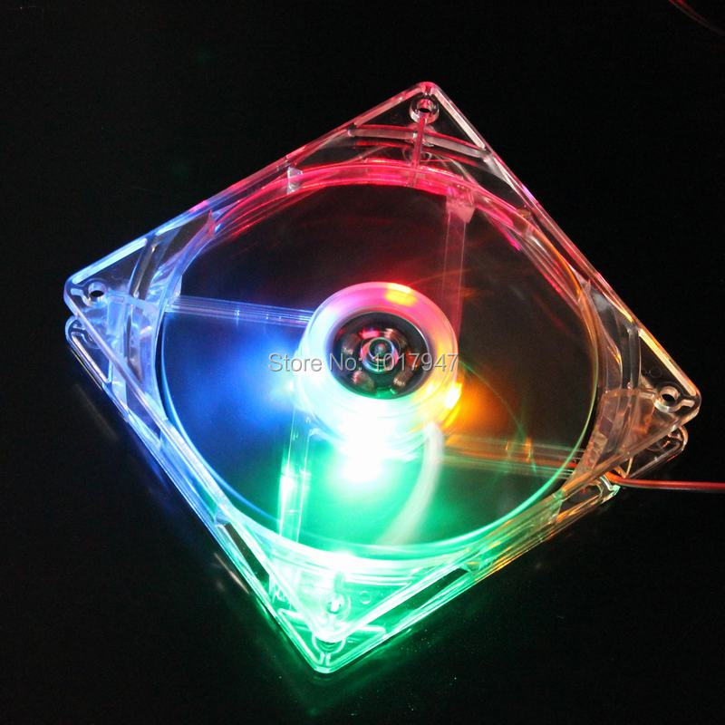 100 Pieces LOT Gdstime White Colorful Light 12025 120mm 120x120x25mm Case Cooler Led Fan