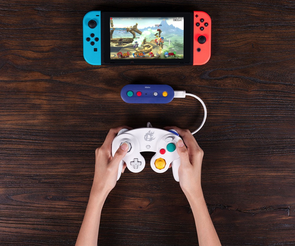 8bitDo GBros Wireless Adapter for NES SNES SF-C Classic Edition Wii Classic for Nintendo Switch Gamecube 15
