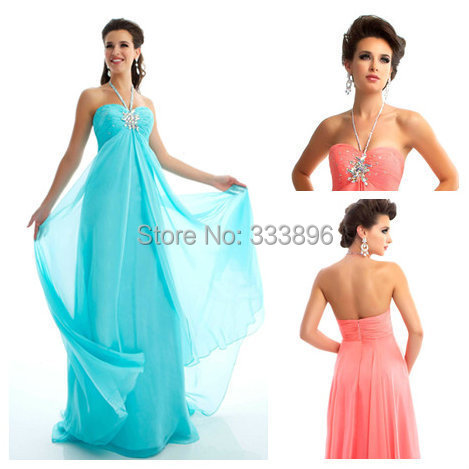 2014 New Fashion Custom Made halter Prom Dresses Beaded Backless chiffon evening dress ev - 0298 Suzhou SAO tome clothing co., LTD store