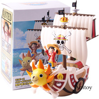 Anime One Piece MEGA World Collectable Figure SPECIAL Monkey D Luffy Thousand Sunny PVC Action Figures Collectible Model Toy