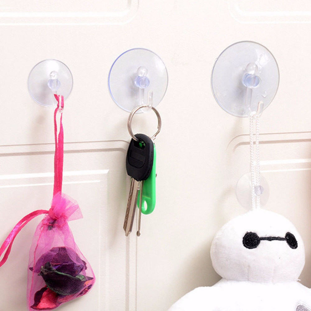 1Pcs Transparent Wall Hooks Hanger Kitchen Bathroom Suction Cup Suckers 4  Size Window Vacuum Suction Hooks In Hooks U0026 Rails From Home U0026 Garden On ...
