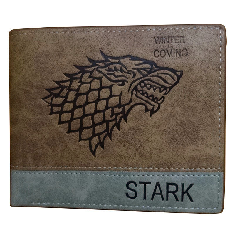 все цены на Hot Game of Thrones STARK Wallet Cartoon Anime Card Holder Short Purse Dollar Price Leather Men Wallets with Zipper Coin Bag